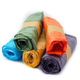 Crinkle paper rolls Stock Image