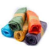 Crinkle paper rolls Stock Image