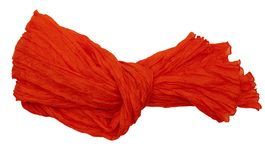 Crinkle silk scarf - isolated Stock Photo