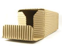 crinkled картон коробки раскрытым Стоковые Изображения
