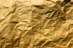 Crinkled Bag. Crinkled brown paper bag Stock Photos