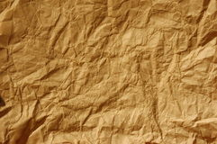 Crinkled brown paper Stock Image