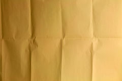Crinkled brown paper. For background Stock Image