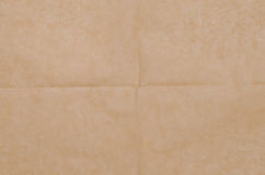 Crinkled brown paper background. Texture Royalty Free Stock Photo