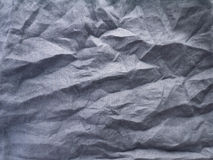 Crinkled dark gray natural linen fabric Royalty Free Stock Photography