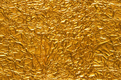 Crinkled Gold Foil Background Royalty Free Stock Images