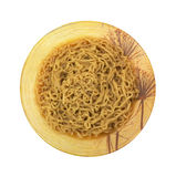 Crinkled Noodle Soup In Decorative Bowl Royalty Free Stock Image