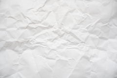 Crinkled paper. Crinkled sheet of white paper Stock Photos