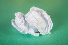 Crinkled paper. Image of crinkled white paper Stock Photos