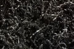 Crinkled shredded o papel preto fotos de stock royalty free