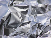 Crinkled tinfoil Royalty Free Stock Image