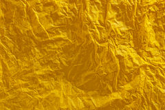 Crinkled yellow tissue paper background Stock Photography