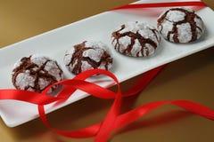 Crinkles Chokolate μπισκότα Στοκ εικόνα με δικαίωμα ελεύθερης χρήσης