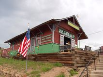 Cripple Creek, Colorado. The train station and gift shop in the scenic mountain town of Cripple Creek, Colorado.  Popular with tourists for the casinos, the main Royalty Free Stock Image