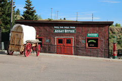 Cripple Creek District Museum. The historic campus of the Cripple Creek District Museum includes the Assay Office, from the Gold Rush era in Colorado Stock Photos