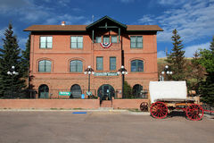 Cripple Creek District Museum. The historic campus of the Cripple Creek District Museum tells the story of the Gold Rush era in Colorado Royalty Free Stock Photography