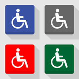 Cripple icons set great for any use. Vector EPS10. Royalty Free Stock Photography