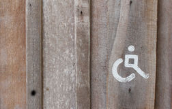 Cripple  restroom. Symbol of the cripple  restroom Stock Images