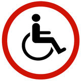 Cripple sign Royalty Free Stock Photos