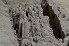 Crippled Terracotta Army Soldiers Horses Stock Photography