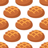 Cripsy wheat bread seamless pattern Stock Images