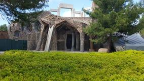 Cripta de la ana del ¼ de Gaudà Colonia Gà imagen de archivo