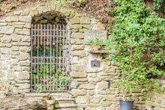 Cripta de la capilla de nuestra señora del baño en Castiglione Fiore Imagen de archivo libre de regalías