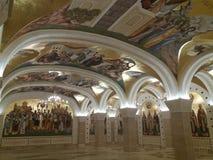 Cripta del templo del santo Sava imagen de archivo