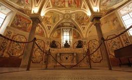 Cripta della cattedrale di Salerno Fotografia Stock Libera da Diritti