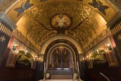 Cripta dentro da catedral da basílica em Monte Cassino Abbey Italy Fotos de Stock
