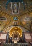 Cripta dentro da catedral da basílica em Monte Cassino Abbey Italy Fotos de Stock Royalty Free