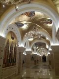 A cripta do St Sava Temple imagem de stock royalty free