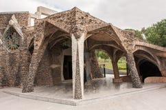 Cripta Gaudà Arkivfoton