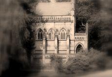 Cripta gotica spettrale fotografia stock libera da diritti