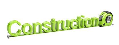 Cription - bouw en meetlint. Stock Afbeelding