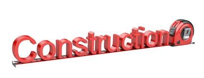 Cription - construção e fita métrica. Imagens de Stock