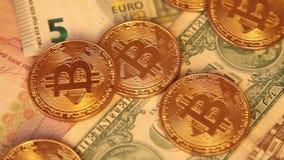 Cripto货币bitcoin 美元,欧洲 股票录像