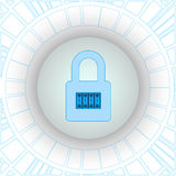 Criptografia do tráfico da Internet usando a tecnologia de VPN número Fotografia de Stock Royalty Free