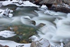 Crique claire d'hiver Photographie stock libre de droits