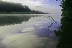 Crique Cornouailles du nord de Cotehele Image stock
