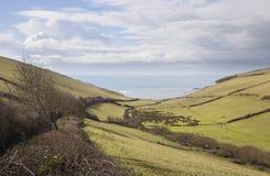 Crique d'Ayrmer, Devon, Angleterre Photo libre de droits