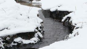 Crique d'hiver sous la neige clips vidéos