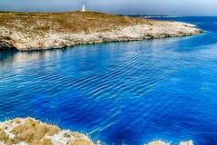 crique dans la plage rocheuse sur la Mer Adriatique Image libre de droits