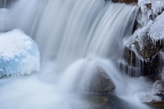 Crique de Boulder de cascade d'hiver Photo libre de droits