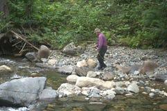 Crique de Boulder de pêche Photographie stock