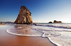 Crique de cathédrale, Nouvelle Zélande Photos libres de droits