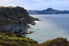 Crique de cathédrale, Nouvelle Zélande Photos stock
