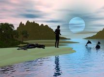 Crique de dauphin image libre de droits