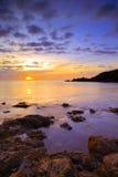 Crique de fabrique de sel au lever de soleil Images libres de droits