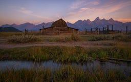 Crique de grange de Moulton au lever de soleil Photo libre de droits